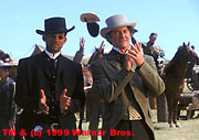 Will Smith and Kevin Kline on Wild Wild West, Warner Brothers 1999