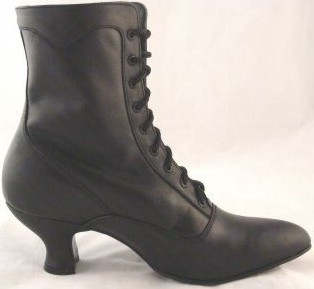 Victorian Reproduction Shoes Leather Wide Width
