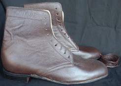 Ladies high-top lace-up shoes / boots in brown. Victorian & Civil War