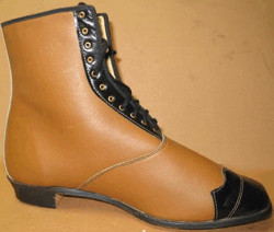 Ladies High-Top Button-Up Shoes - Black