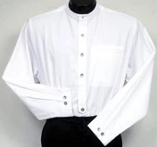 Shirt, Helena in Solid White - takes detachable collars
