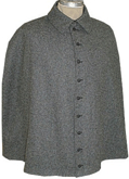 Civilain Cape in Dark Grey with Buttons, 19th Century (1800s) Men's Clothing