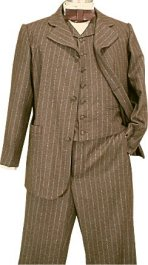 Civilain Sack Suit, 19th Century (1800s) Men's Clothing