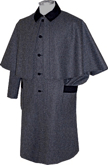 Civilian Greatcoat (Overcoat) Dark Gray with Black Trim, 19th Century (1800s) Clothing
