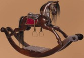 Rocking Horse - Medium, 19th Century (1800s) toys and games.