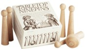 Tabletop NinePins / Nine Pins. 19th Century (1800s) toys and games.