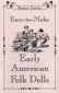 Book: Easy-to-Make Early American Folk Dolls