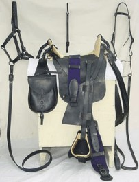M1859 McClellan Saddle Package: Saddle, Surcingle, Bridle (headstall, bit & reins), Halter/Lead Strap and Saddle Bags