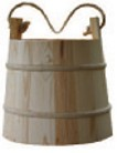 Wooden bucket with rope handle (1800s/19th Century)