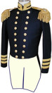 Union Naval Officers Dress Tailcoat, United States Civil War Navy uniforms