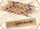 Bamboo Pick-Up Sticks with box. 19th Century (1800s) toys and games.